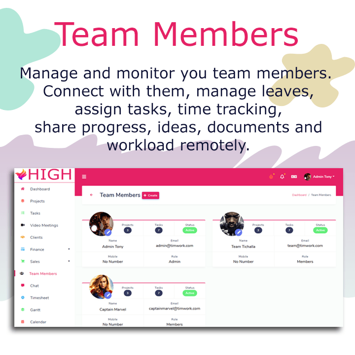 HIGH SaaS - Project Management System